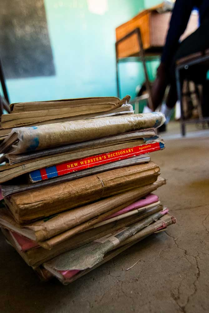School books, St. Luke's Secondary Girls School.