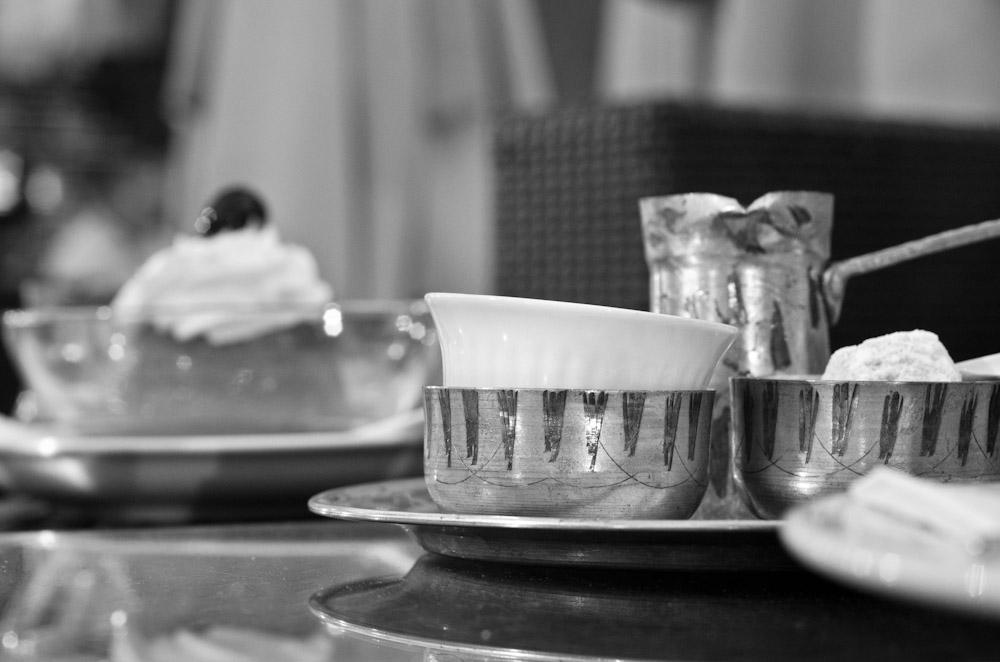 Dezva for drinking coffee in Bosnia.