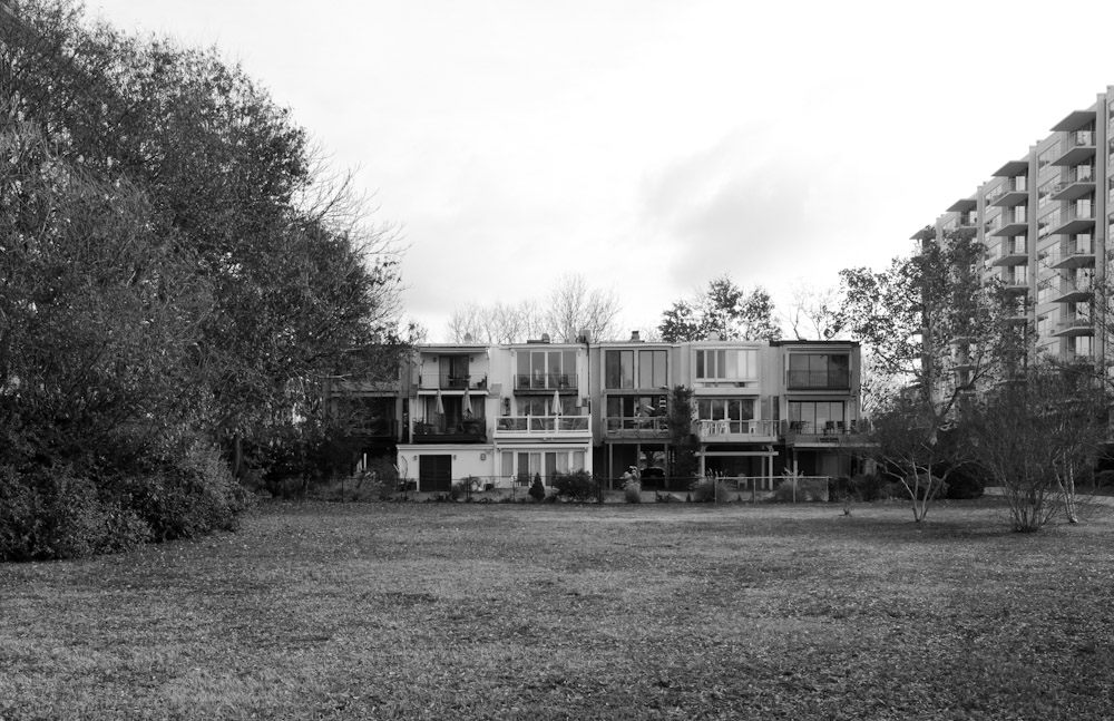 Mid-century homes in Southwest, D.C., facing the Potomac River.