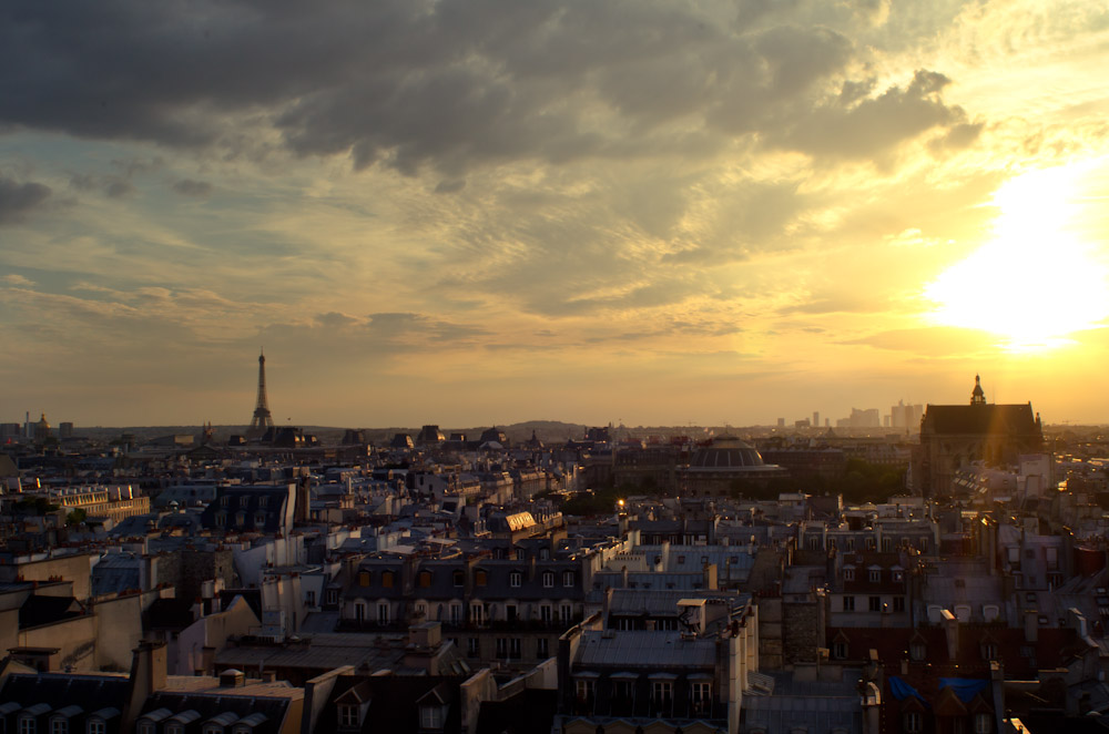 Paris at dusk.