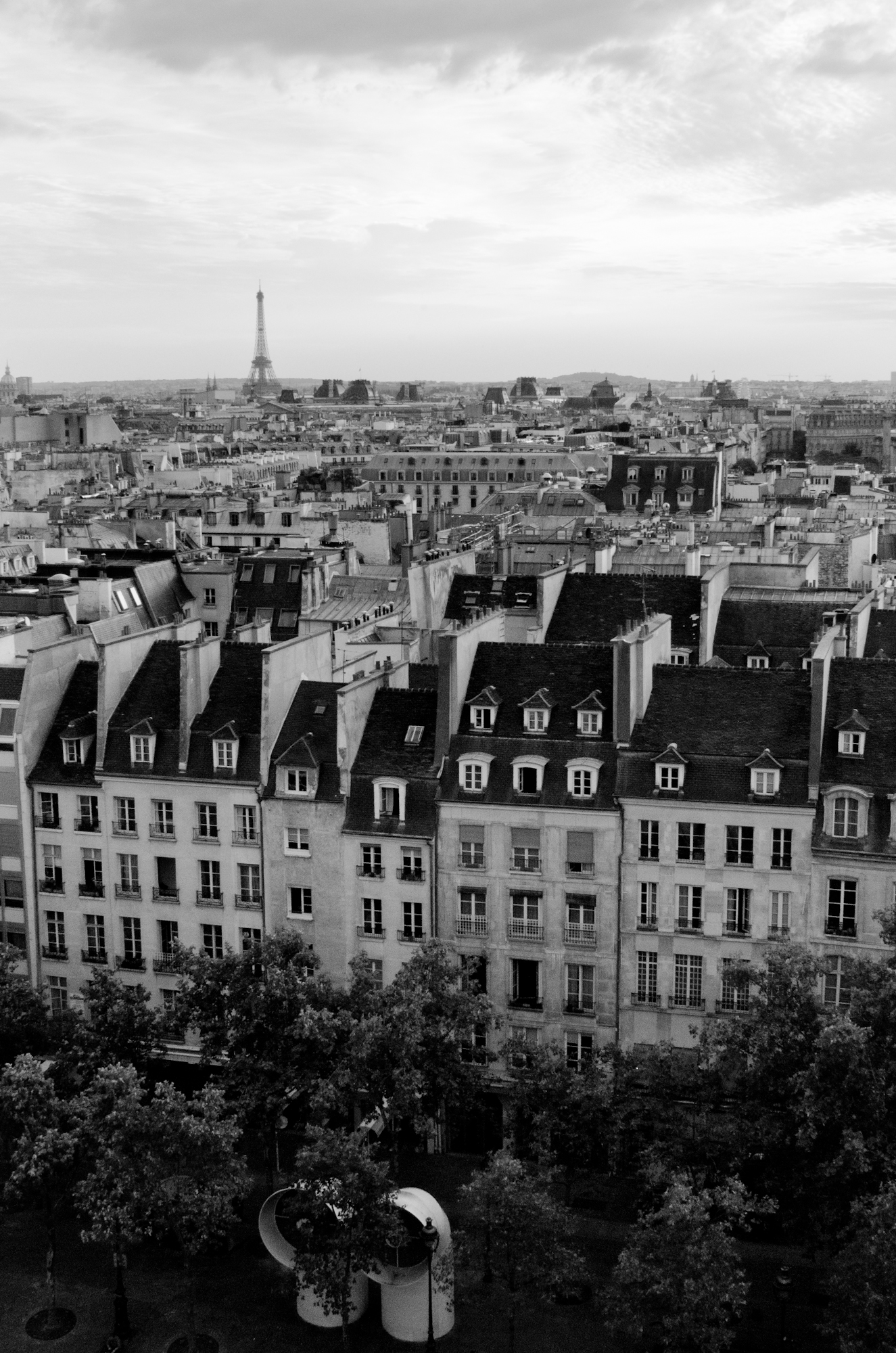 Paris, view from the Centre Pompidou.