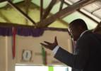 Pastor Joshua Atieno preaching.
