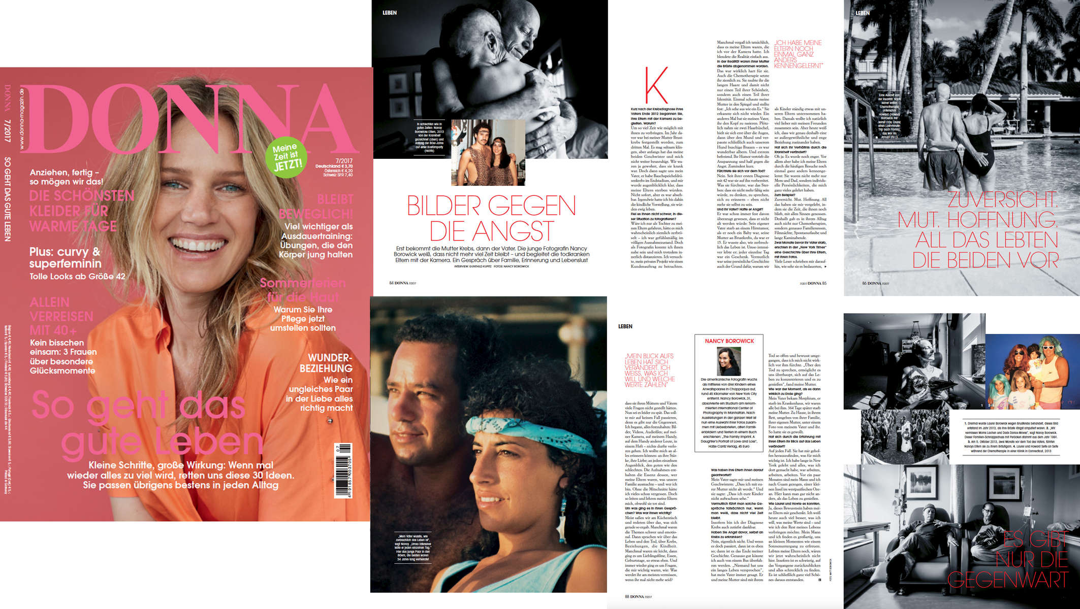 While I cannot read German, this spread in the July issue of Donna Magazin is pretty special to me as I had a wonderful interview with the very kind and thoughtful Gunthiuld Kupitz.