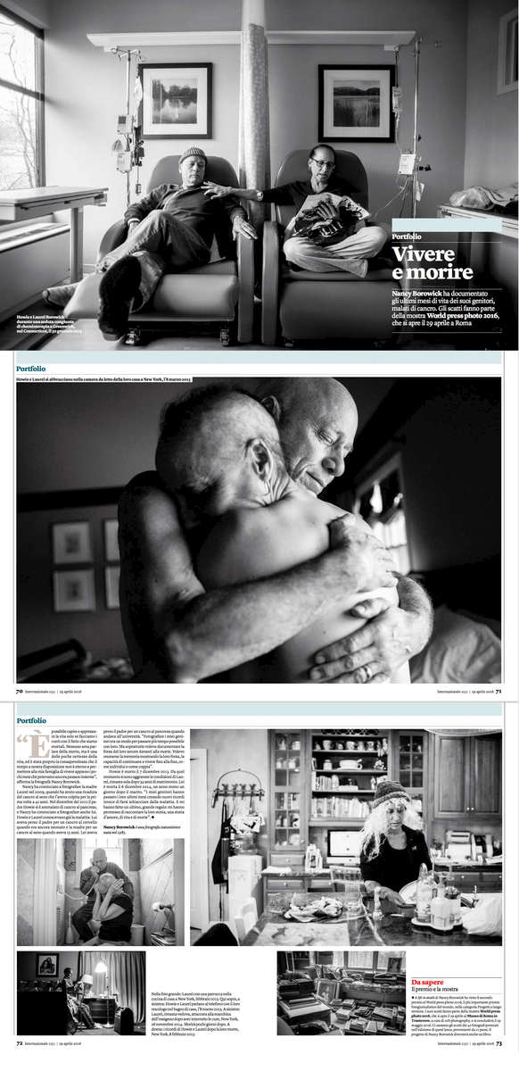 The story was published in a beautiful spread in Italy's Internazionale Magazine.