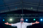 Boyz II Men singer Wanya Morris commands the stage at Paseo Stadium in Hagatna, Guam on a warm winter night on the island. (Dec. 15, 2017)Photo by Nancy Borowick