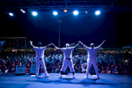 With an audience of over 3000 cheering fans, the Boyz II Men did not disappoint, performing their classic hits during a show at the Paseo Stadium in Hagatna, Guam. (Dec. 15, 2017)Photo by Nancy Borowick