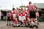 Boys and girls at the 37th  Annual Bavarian Festival in Franklin Square get together to take a picture before their performance in front of the crowd. (June 12, 2011) (Photo by Nancy Borowick)