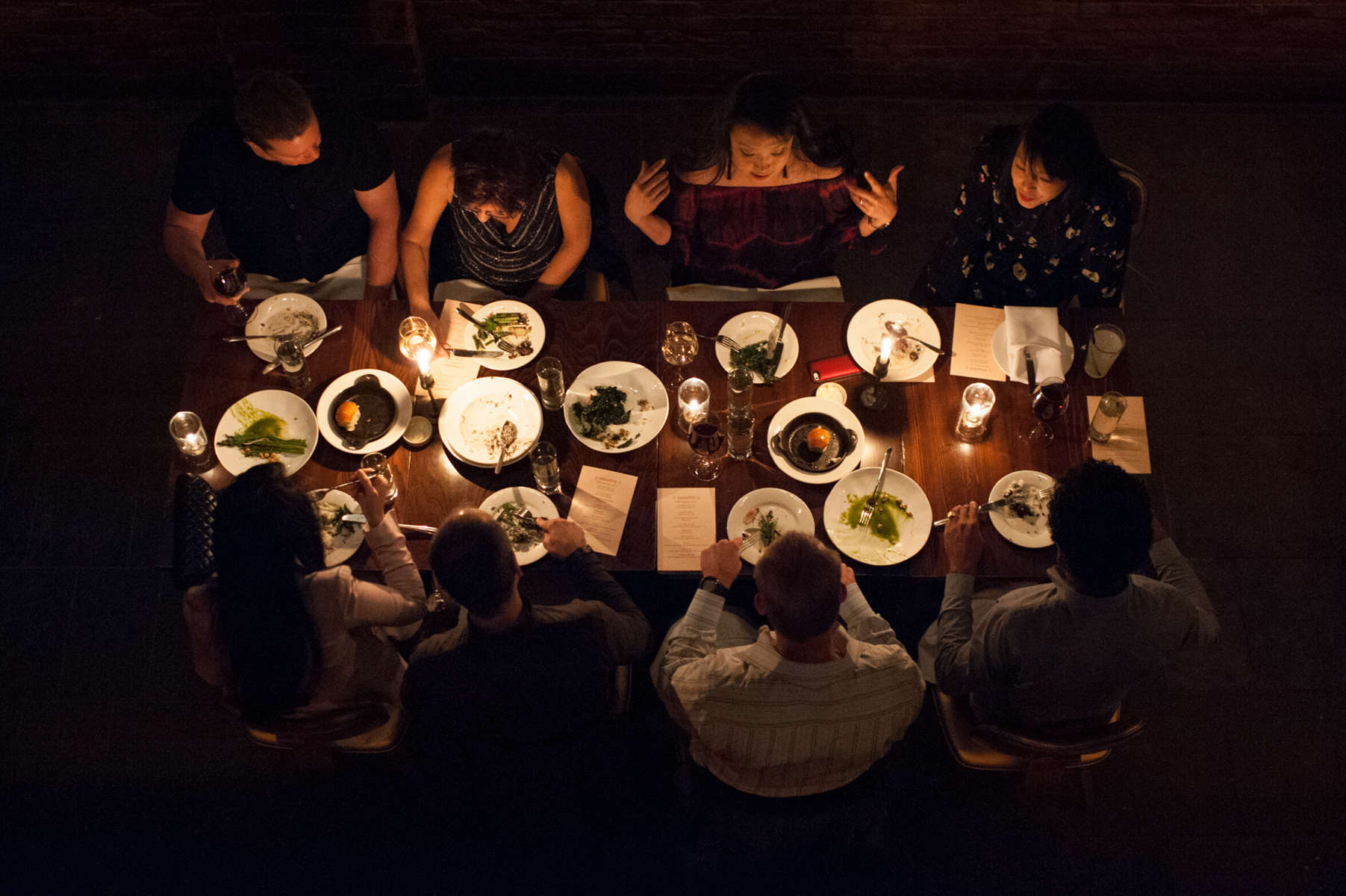 At the back of Rosette, a Contemporary American restaurant on the Lower East Side, there is a space available for private parties, equipped with a bar, dining space, private entrance and projector and screen offering an intimate dining experience. (Apr. 19, 2014)Photo by Nancy Borowick