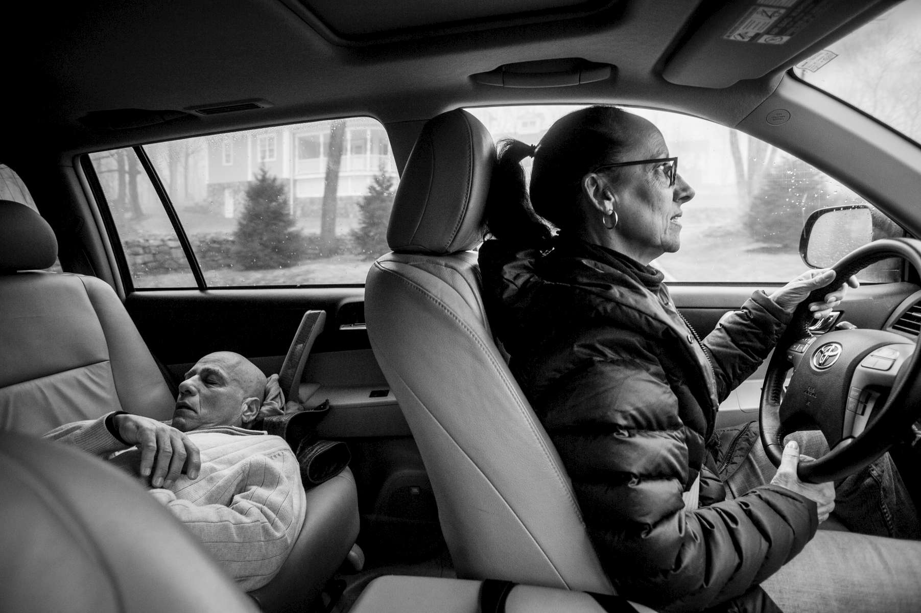 The drive to chemotherapy treatment took half an hour, and Mom and Dad would take turns, resting and driving, depending on whose getting treatment that day.