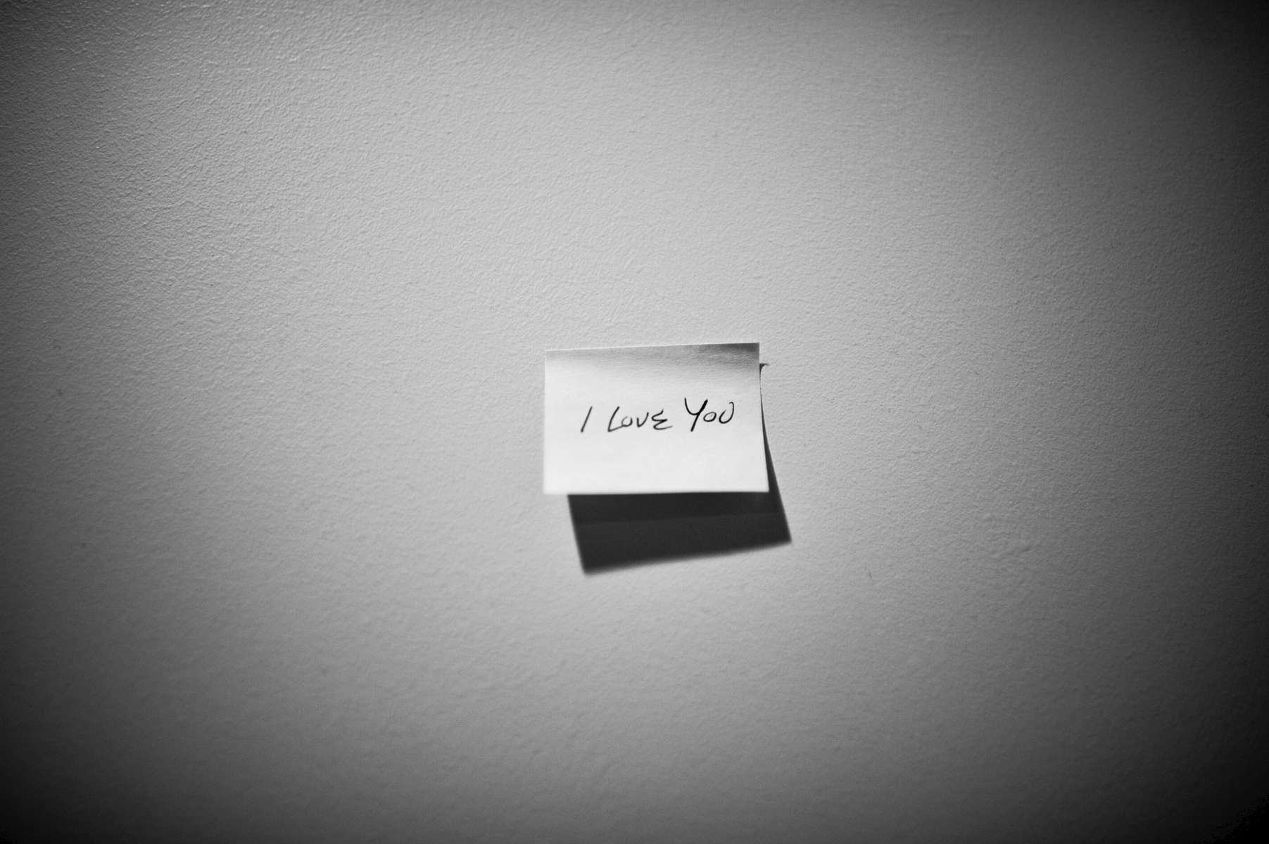 Romantic sticky- notes from Dad to Mom hung around the home, originally put up during Mom's first cancer recurrence in 2011.