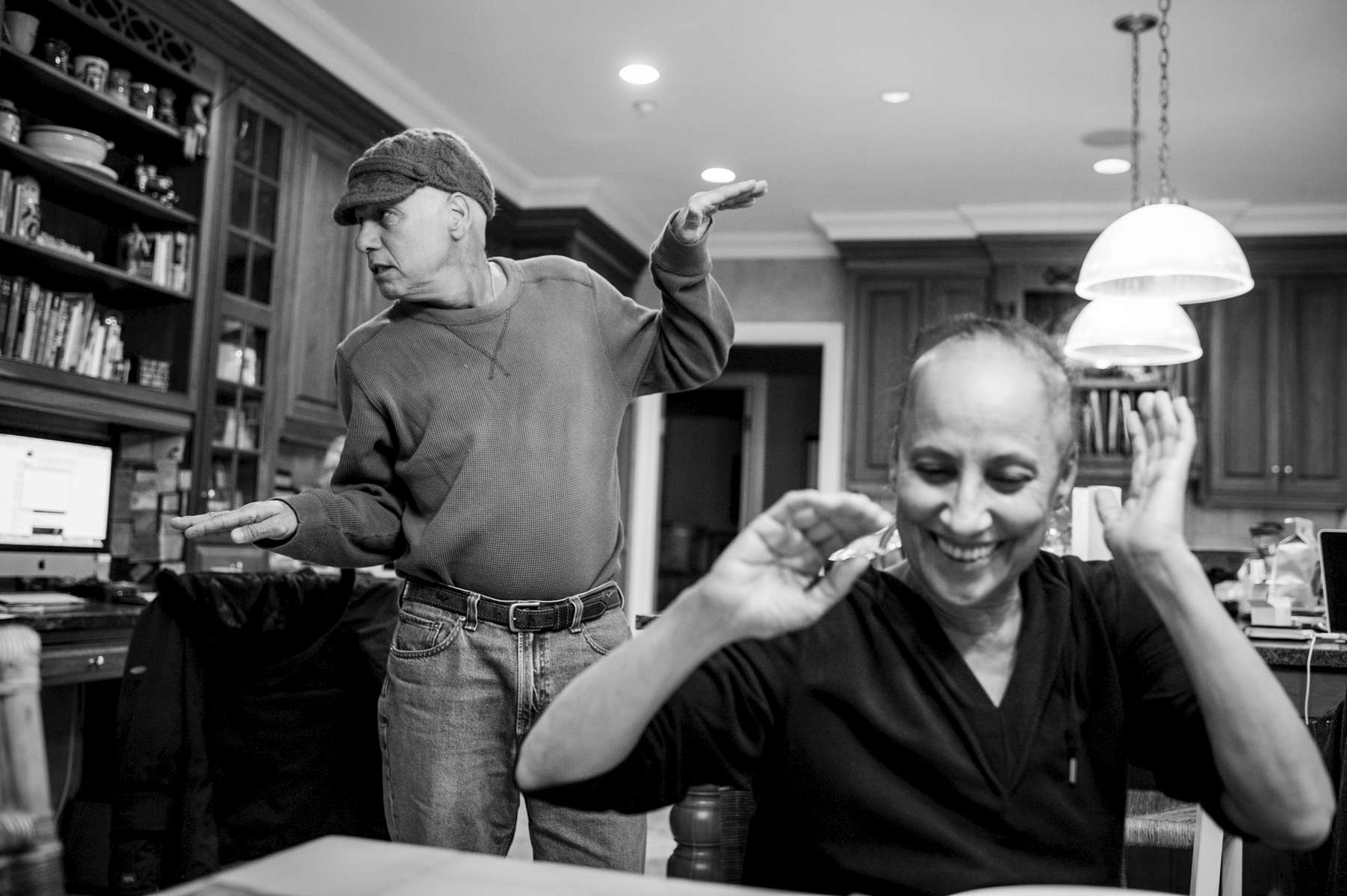 Dad always knew how to make Mom laugh. Even when he was feeling completely terrible after seven hours of chemotherapy, he could still bust-a-move and get a smile out of her. Chappaqua, New York. February, 2013.
