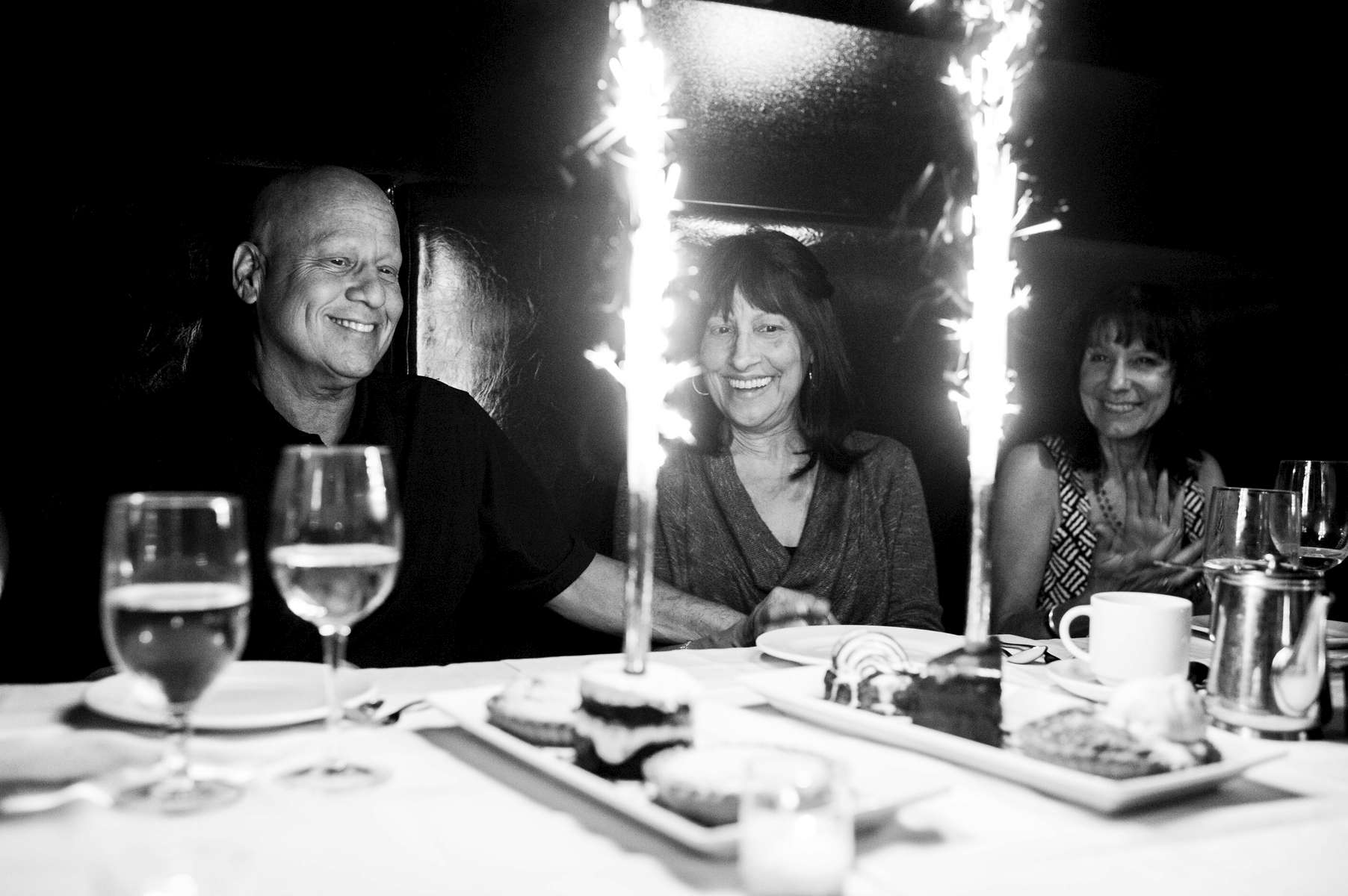 Along side friends and family, Howie celebrates his 58th birthday, an event he did not think he would make it to six months earlier when diagnosed with metastatic pancreatic cancer. Manhattan, New York. June 2013.
