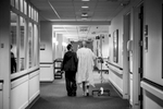 Recovering from a collapsed lung and managing a recent case of pneumonia, Dad took a walk down the hallways of the Medical Oncology wing of the hospital with Mom, by his side.