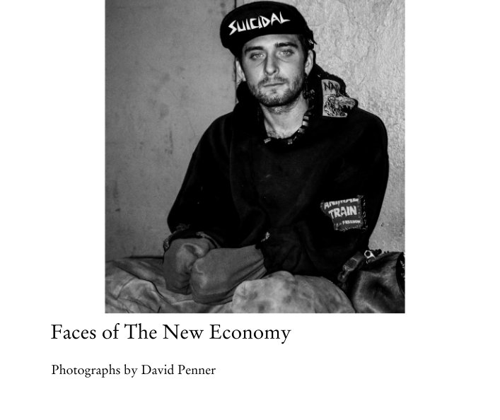 Faces of The New Economy is a collection of black and white portraits taken in Manhattan, the heart of New York City. Despite concentrations of extraordinary wealth, offshoring, unbridled military spending, and deindustrialization have had a devastating impact on our country's once proud middle class, and these portraits, many of which are of the homeless, reveal a society in the throes of terrible suffering. The book is divided into three sections: Veterans, Abandoned Youth, and The Ancient Ones.Buy the book on Blurb.com.