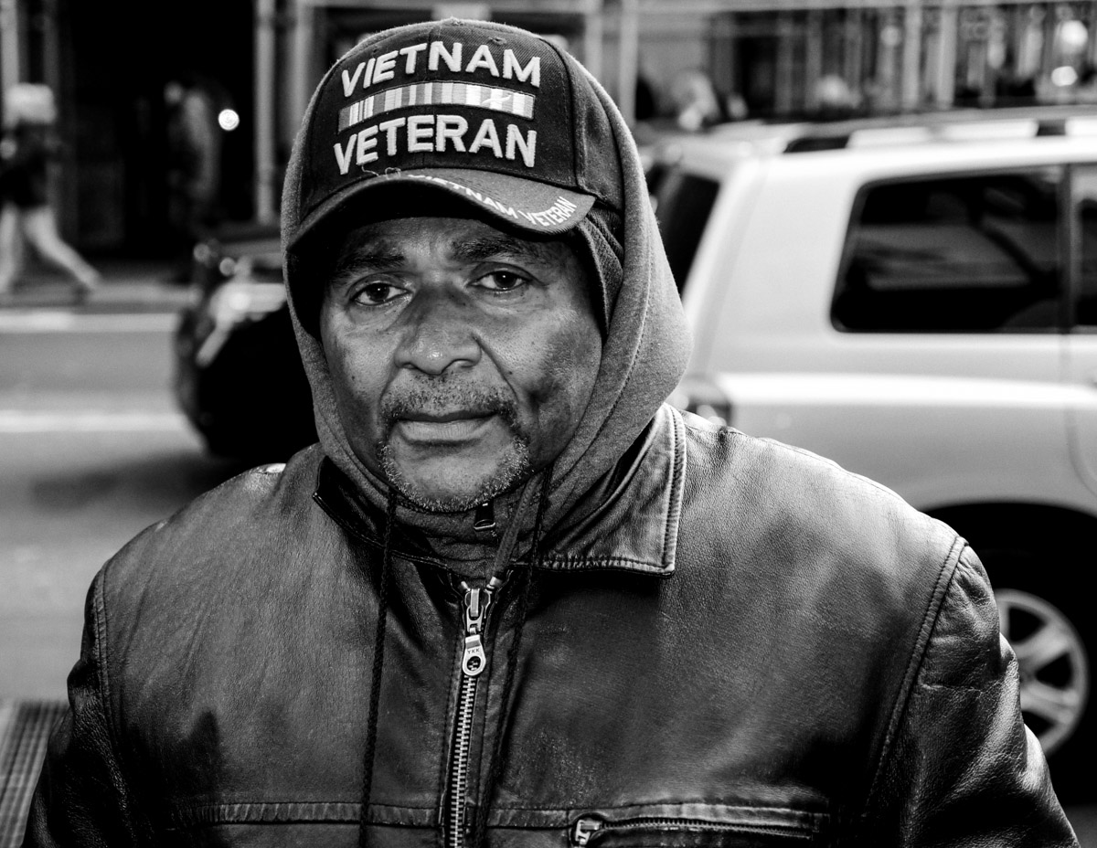 The haunted face of a Vietnam Veteran