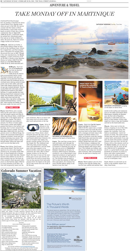 Travel Article - Martinique
