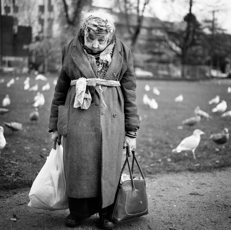 Rose has lived in the Downtown East Side for over 20 years. She lives in a half way home and feeds the birds everyday at 2pm. She told me they are her only friends.