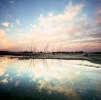 Sunset on the Salt Lakes