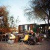 Annexed trailer home in Slab City