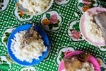 Lunch for the students at st Jospephs college Abiang Island, Kiribati.