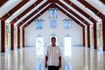 Father Maritino in the Catholic Church, Tarawa.