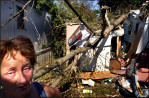 """""""This is all I have,"""" Tina Turlington sobs out. Her mobile home was demolished as Hurricane Isabel swept Hampton Roads area in Virginia. Tina, her disabled husband and a teenage son are one of the 7,851 Virginia families, who were forced out of their homes by the hurricane."""