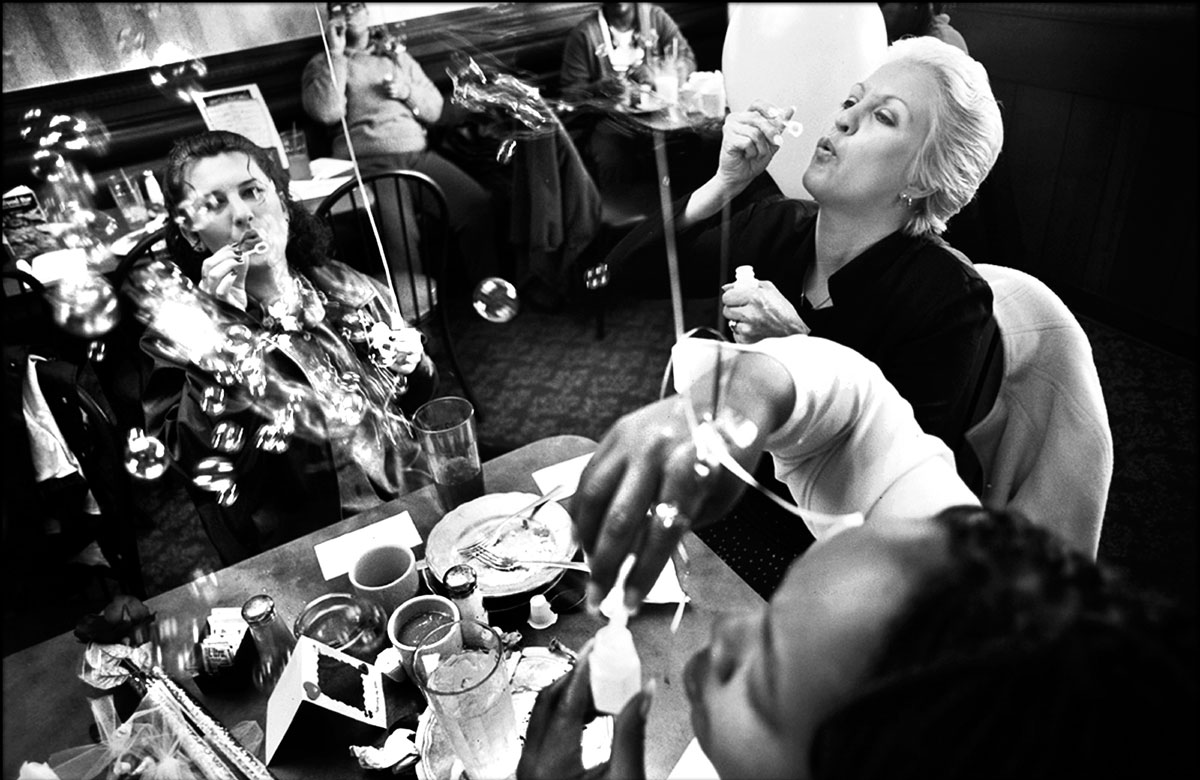 Linda and other participants at the Drug Court blow bubbles to celebrate their commitment ceremony to {quote}marry themselves.{quote} The ceremony is an event that the women in the drug court holds every year to inspire them to love themselves and have self-esteem.