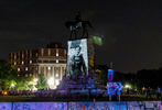 Lee monument is lit with the image of Harriet Tubman, American abolitionist and political activist.