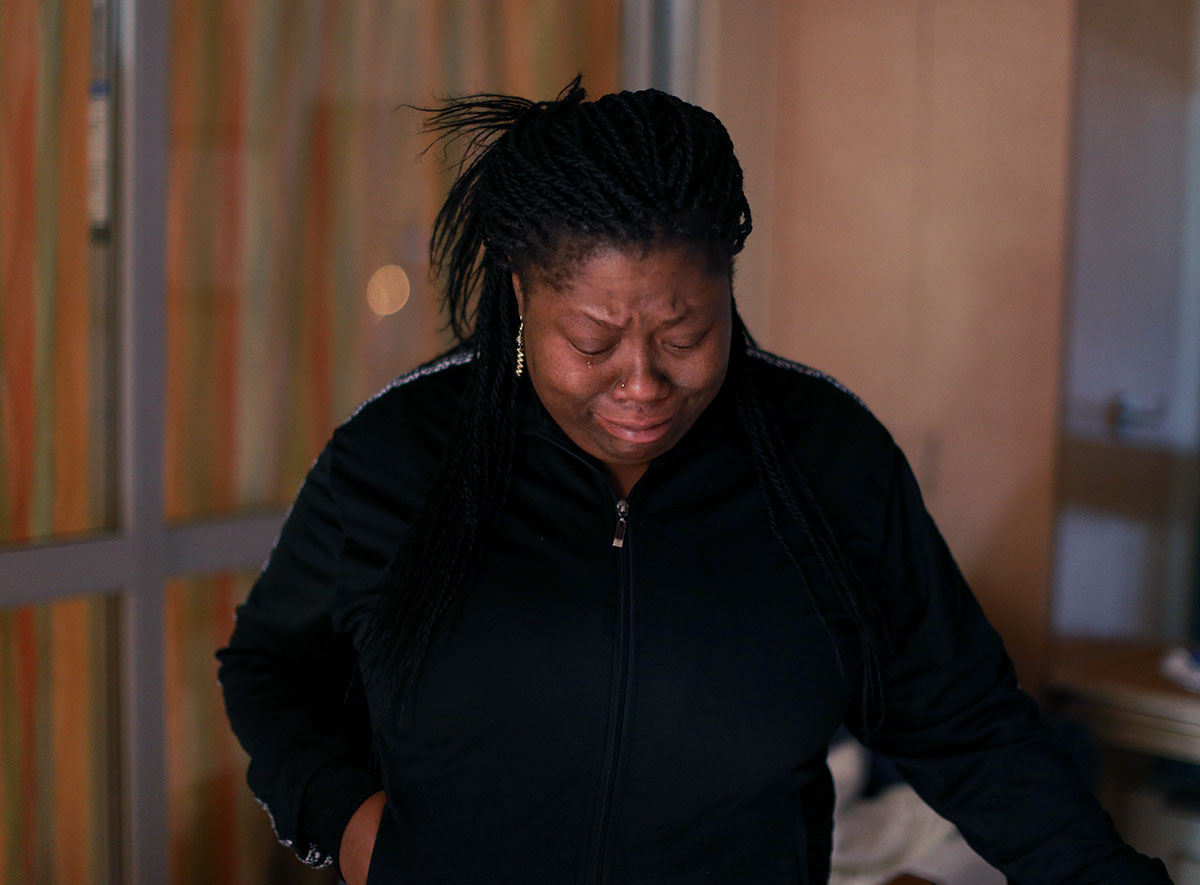 Lawanda Booker is upset because she can't do much for Edward, who recovers from spinal fusion surgery to treat his curved spine at the intensive care unit of Shriners Hospitals for Children in Philadelphia.