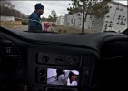 """""""I can see her and she can see me all the time,"""" Vincent Cousins said when asked why he puts photos of his daughter, Vinnesha Hunter, inside his car. Vinnesha, 19, was killed by a stray bullet while she was standing in her kitchen."""