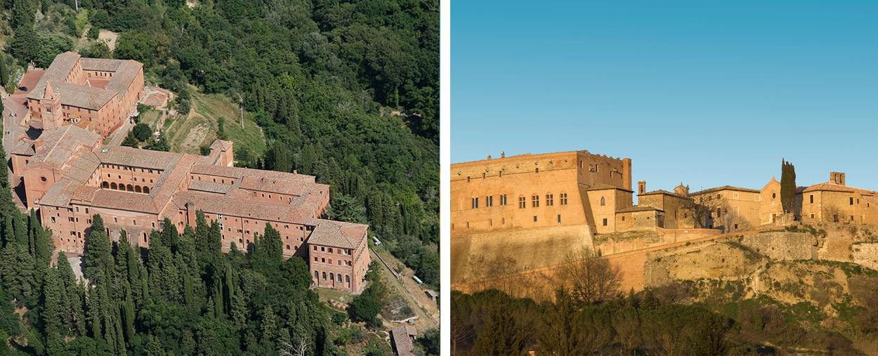 Monte Oliveto Monastery & San Giovanni d'Asso