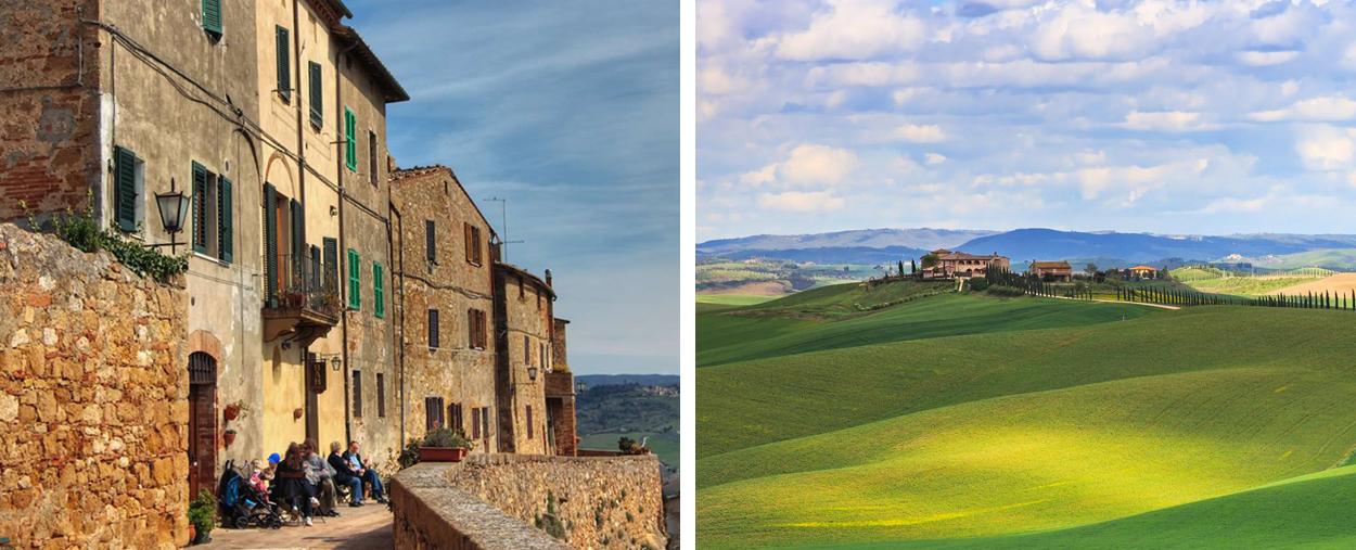 San Quirico, Pienza and Montepulciano