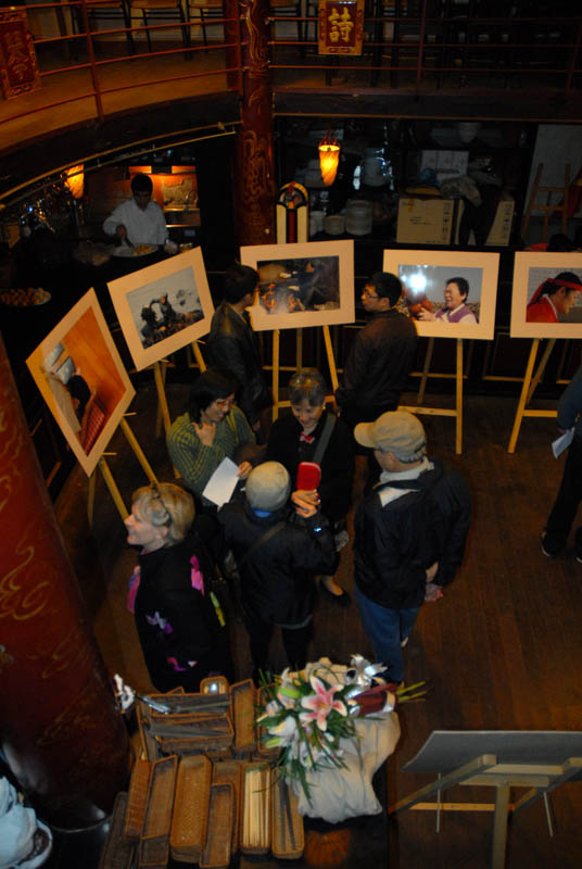 Photo exhibit at Cinemateque, Hanoi, VietnamMarch 20, 2011