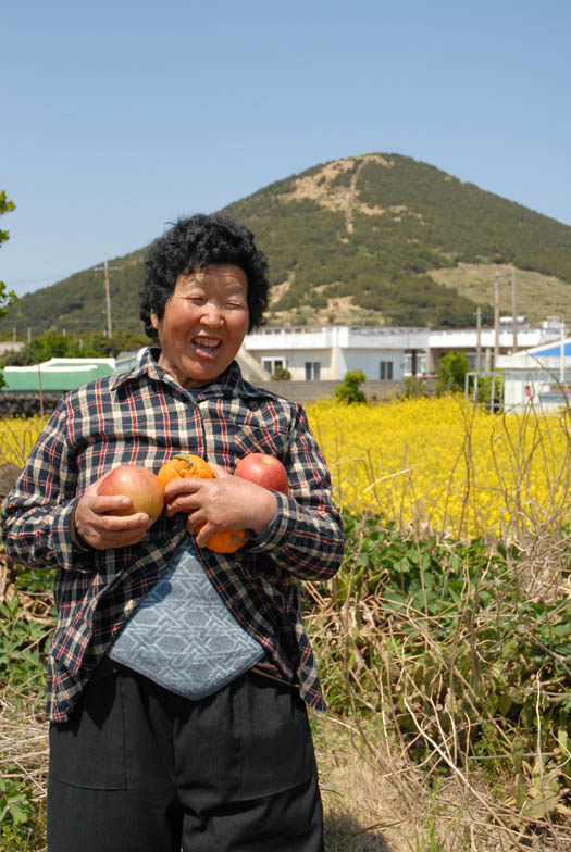 Woo Sun-deok, a haenyeo widow who lives and works in Jongdal village.