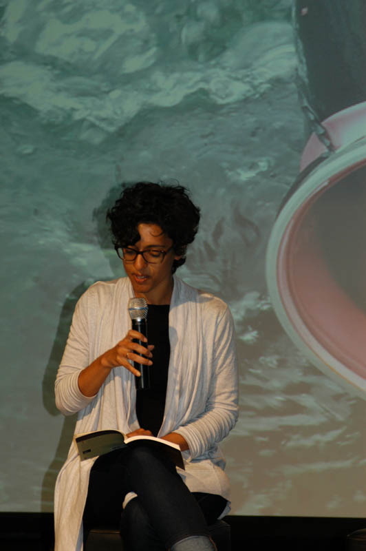 Poet Sonnet L'Abbe reading an excerpt from her poem {quote}Haenyeo Song: Harvest,{quote} which was published in Moon Tides--Jeju Island Grannies of the Sea.