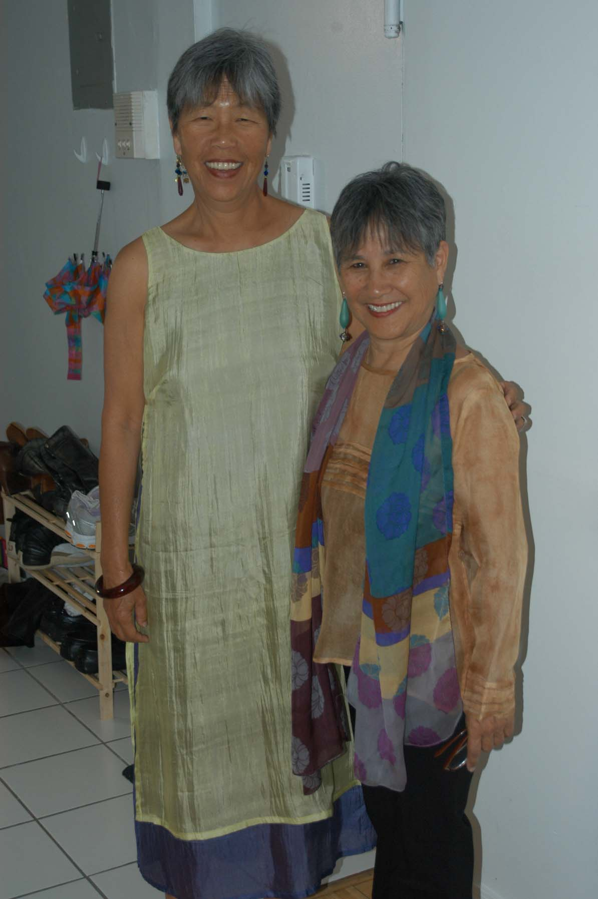 Gail Whang and author.