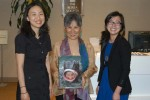 Left to right: Jinyoung Kim, author and Natalee Newcombe of New York Korea Society.