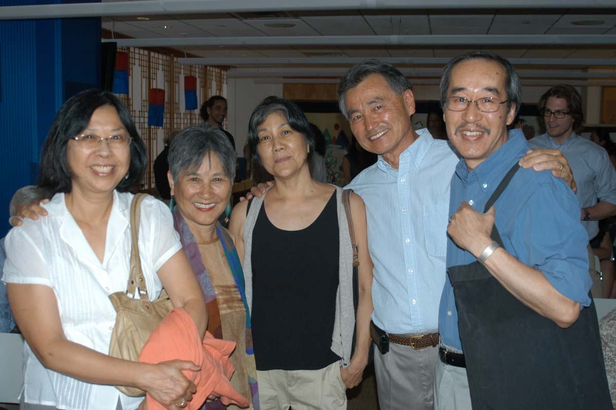 Left to right: Liz, author, Tomie Arai, Jan Sunoo, and Legan Wong