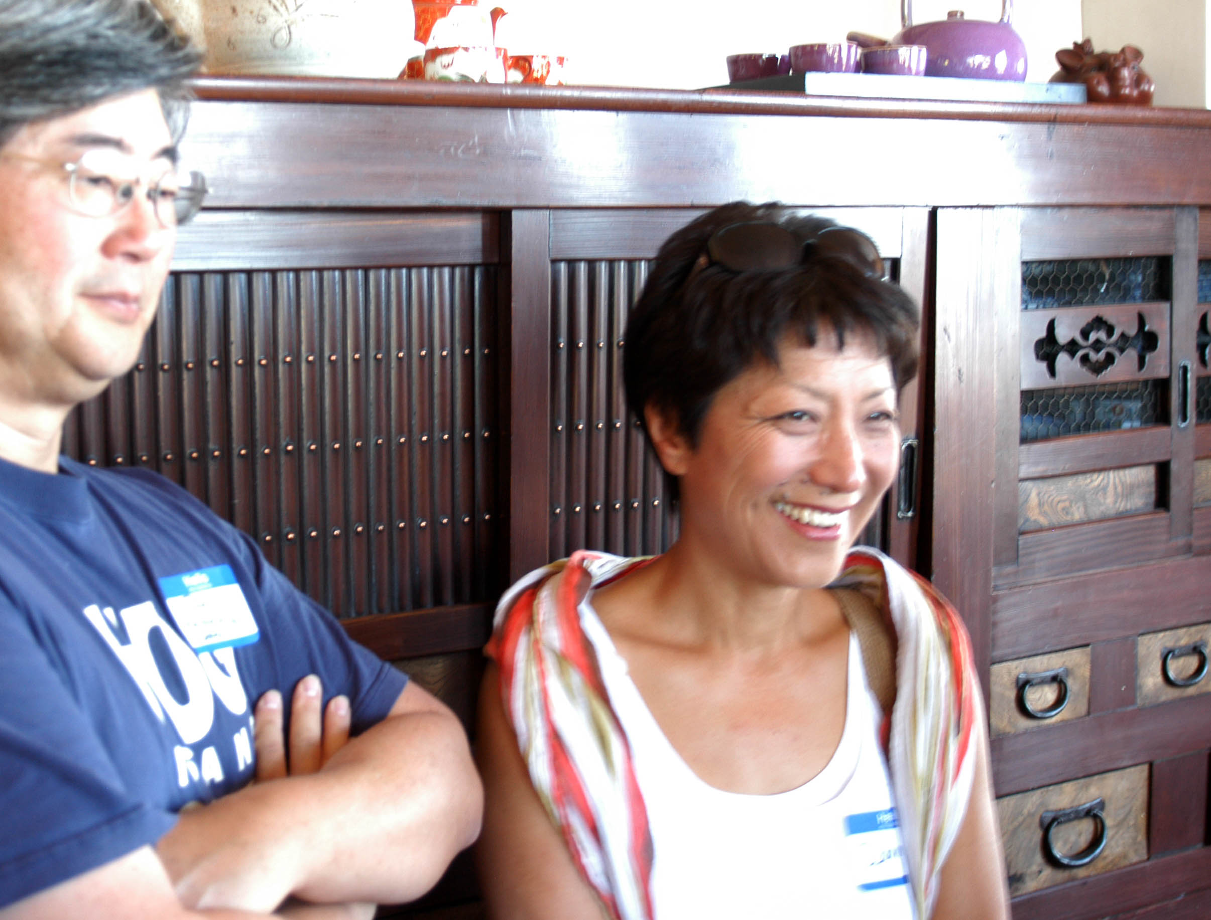 Paul Liem, president of Korea Policy Institute (www.kpolicy.org), and filmmaker Deanne Borshay Liem (www.mufilms.org)