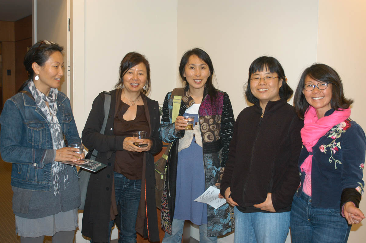 Left to right: Mikyung Kim, therapist; Mimi Kim, director of Creative Interventions; DoHee Lee, performance artist; Yu-kyoung Ko, South Korean peace activist; and Christine Ahn, director of Korea Policy Institute.