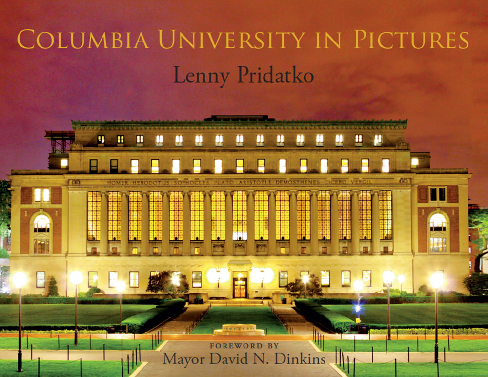 Columbia University in Pictures is an award-winning architectural photography book containing 150 of Lenny Pridatko's best photographs of Columbia's five campuses and the Morningside community.