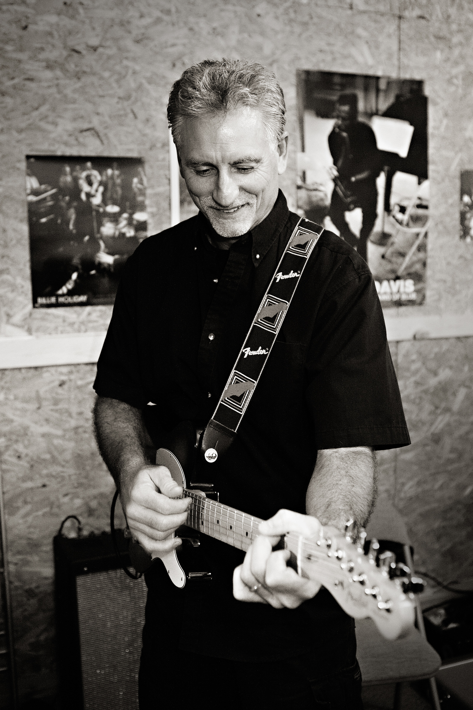 Photograph of Brent playing lead guitar