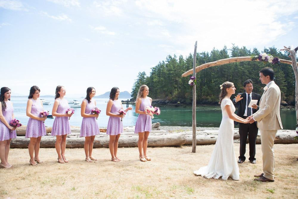 Chrissy Jamie Orcas Island Beach Wedding Wa