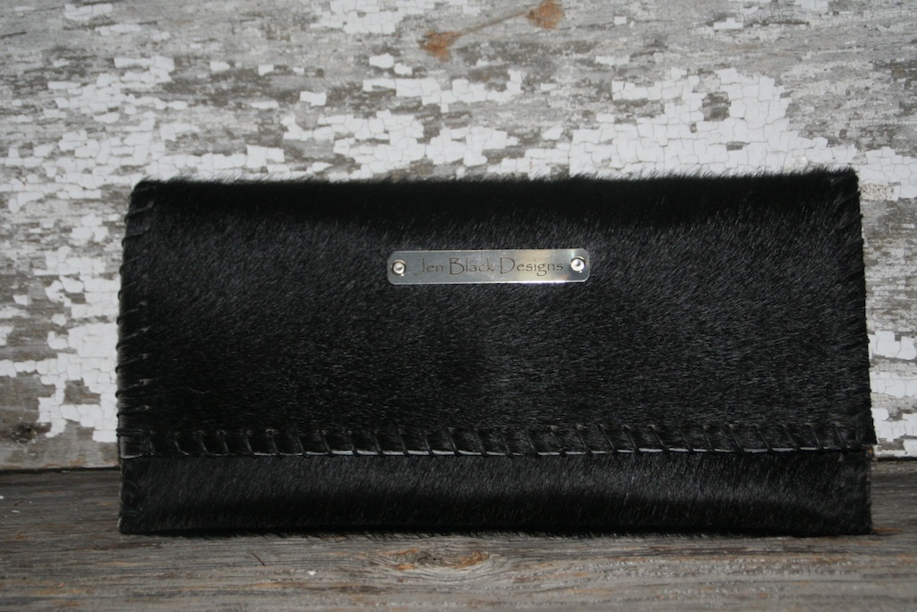 Solid Black Evening Clutch