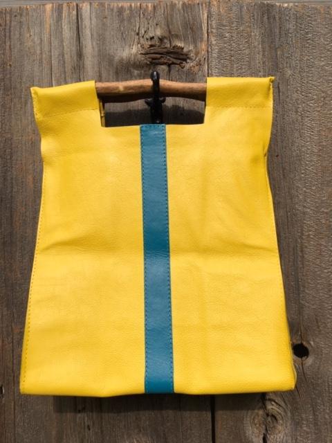 Yellow with Scott Blue Stripe