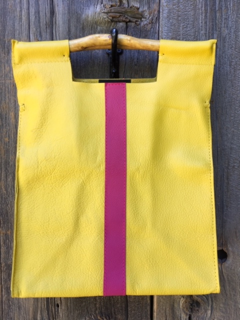 Yellow with Pink Stripe