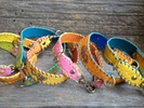 Bright Colored Croc Embossed Leather