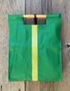Full Grain Italian Green with Croc Embossed Green Stripe