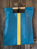 Turquoise with Croc Embossed Yellow Stripe
