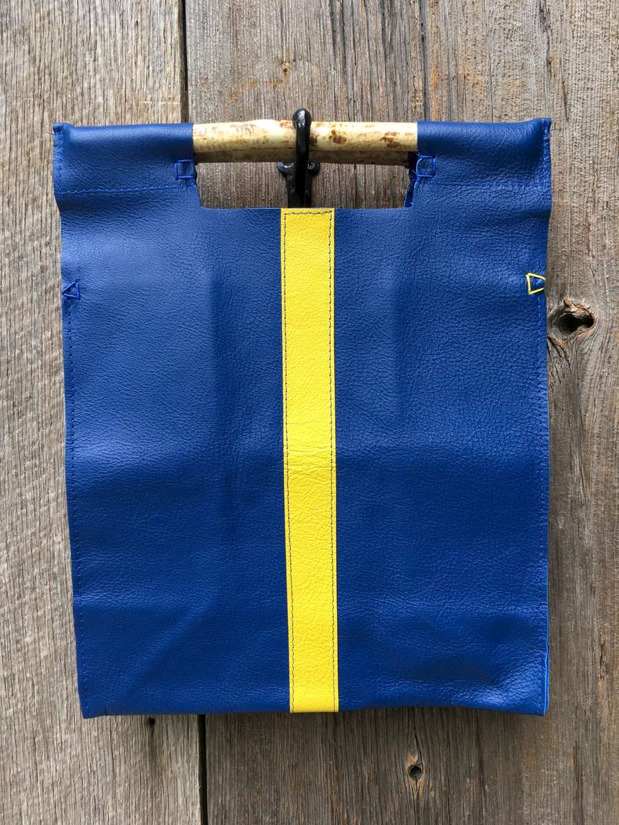 Royal with Yellow Stripe